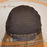 Peluca superior de seda del pelo europeo del 100% (PPG-l-0594)