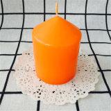 Piccola candela superiore aguzza arancione della colonna per la promozione