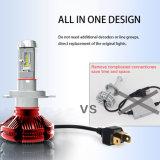 Trois de la température de couleur jaune blanc H4 H7 H11 50W 6000lm étanche Projecteur à LED de remplacement automatique