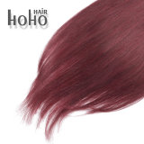 Colore rosso dell'onda diritta superiore una clip da 20 pollici nell'estensione dei capelli