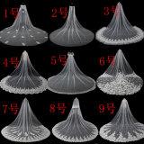 Velare nuziali morbidi lunghi di Tulle di larghezza di lunghezza 3m del commercio all'ingrosso 3.5m