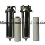 Cartucho de filtro plisado micro de nylon de agua