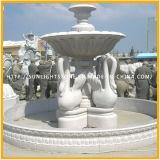 Polished черный фонтан шарика сферы завальцовки гранита, каменный фонтан глобуса