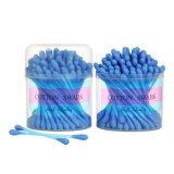 Nuevos Productos bastón de plástico hisopos de algodón puro 100PCS/Box, coloridas Stick+blanco de algodón