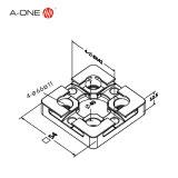 CNC 기계로 가공 사용을%s 격판덮개 3A-400008를 중심에 두는 a-One 3r 장식새김 강철