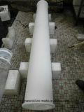Tube de quartz blanc laiteux avec une très grande pureté