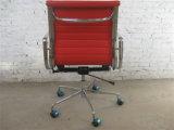 中間の背部高品質の中国のアルミニウム足を搭載する赤いオフィスの椅子