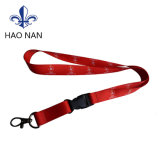 Promotion Gift Card Holder Ribbon Polyester Lanyard with Buckle Metal