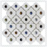 Китай Италия белый характер камня использованием мозаики на стене оформление