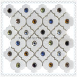 China Italia Naturaleza Blanco Mármol Piedra mosaico de azulejos de pared