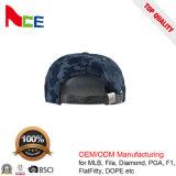 帽子の工場習慣6のパネル3Dの刺繍のデニムの急な回復の帽子