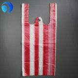 관례에 의하여 인쇄되는 플라스틱 t-셔츠 쇼핑 백