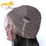 Peruca cheia do laço do cabelo humano do Virgin da qualidade de Alimina grande
