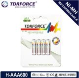 (HR03-AAA 700mAh) baixa bateria recarregável de China Fatory do hidruro do metal niquelar da descarga do auto 1.2V
