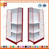 Mensola d'acciaio personalizzata Manufactured dell'angolo della parete di vendita al dettaglio del supermercato (Zhs597)