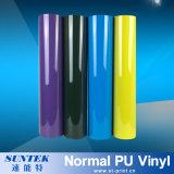 Vinilo fluorescente de la impresión del traspaso térmico de la camiseta de la multitud del PVC de la PU