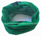 Le polyester fait sur commande de vert d'impression de produit d'OEM d'usine de la Chine folâtre le foulard de réchauffeur de collet