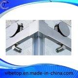 De aço inoxidável 304 conector quadrado de vidro de porta corrediça