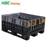 Pp.-materieller logistischer beweglicher Kasten mit Kappen