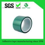 高品質の高温シリコーン付着力の緑ペットテープ