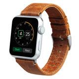 Appleの時計バンド38mmおよび42mmのための狂気の馬の本革の時計バンド