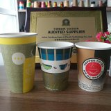 Embleem van de douane drukte de Promotie Afgedrukte Rekupereerbare Koppen van de Thee van de Koffie af