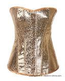 نساء [ستمبونك] [بوستير] نوع ذهب مشدّ يربط أعلى فوق ملابس داخليّة