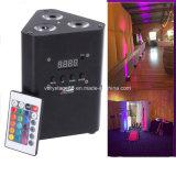 3PCS 10W RGBW/RGBA 4in1電池の無線電信-作動させたLEDの同価ライト