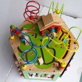 طفلة خشبيّ يلوّن أبجديّة تربويّ أشكال نشاط مركز خرزة متاهة لعبة مكعّب لعب