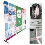 Le stand en aluminium de contexte de tissu de tension de vue de tube sautent vers le haut l'étalage