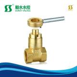 Ss1120 NPT Bsp Brass Válvula gaveta de haste de latão