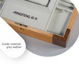 Коробка ювелирных изделий роскошного ретро прямоугольника деревянная