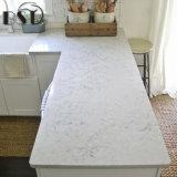Допустимый Countertop кухни камня кварца Carrara белый