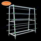 16 Rolls Wholesale kundenspezifische freie stehende MetallCatpet Walzen-Wolldecke-Beispielbildschirmanzeige-Zahnstange