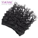 イボンヌの毛のイタリアのカールのバージンのペルーの人間の毛髪の織り方