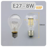 Bol van de LEIDENE LEIDENE van de Lamp 4W 6W 8W LEIDENE van de Verlichting E27 LEIDENE van Dimmable van de Lichte B22 LEIDENE Gloeidraad A60 Bol