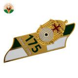 Distintivo su ordinazione di Pin di metallo di organizzazione dello smalto di marchio del nastro