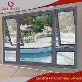 Tenda lustrata di alluminio dell'Calore-Isolamento ricoperta potere la doppia Inclinare-Gira la finestra