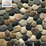 De Steen van de kiezelsteen betegelt Tegel van het Mozaïek van de Muur van de Stenen van de Kiezelsteen van de Prijs van de Was van Spaanders de Bruine Niet gepolijste