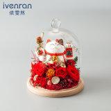Promoción regalo de flores hechas a mano para decoración de vacaciones