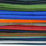 Telas teñidas sólidas de la tela cruzada del poliester T24 para los uniformes 155GSM