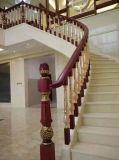 Leuning van de Trede van het Aluminium van de Kleur van de luxe de Gouden voor Villa's
