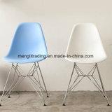 Réplica Chaise Asiento de tejido plástico Silla de Comedor con Metal Leg