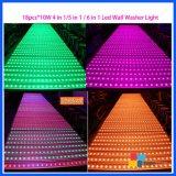 Van de LEIDENE van de Apparatuur van het stadium het Licht van DJ van het Pixel van de Vloer van de Was Muur van 18*10W