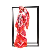 Lenço de seda à moda Flaral das mulheres luxuosas de seda puras da forma colorido