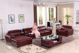 Живущий софа комнаты с самомоднейшим комплектом софы неподдельной кожи
