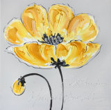 Pintura al óleo hecha a mano floreciente de la flor de la belleza