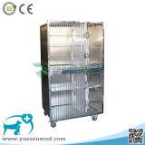 Cage d'oiseau médicale de crabot d'animal familier d'acier inoxydable de cage de clinique d'animal familier de cage de crabot de cage de Chambre animale canine de Fox