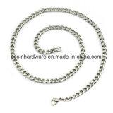 銀製のステンレス鋼の縁の鎖のネックレス