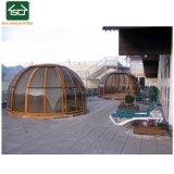 5*3 Piscine thermale couvercle avec une feuille de polycarbonate toit et porte coulissante